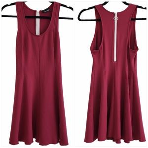 Aritzia Wilfred Zimmer Dress burgundy size 6